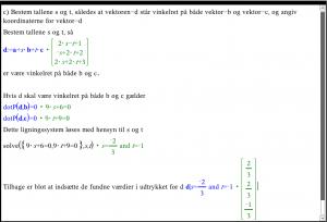 Sådan kan du løse vektoropgaven i et Noter værksted 2