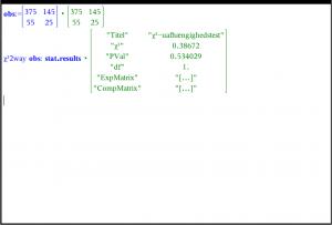 Chi i anden test for uafhængighed eksempel i noter